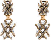 Oscar de la Renta Caged Crystal Clip On Drop earrings
