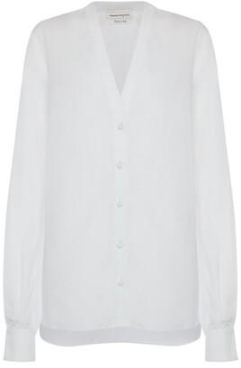 Alexander McQueen Sheer Cotton Shirt