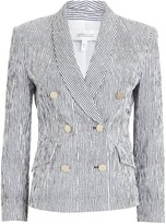 Derek Lam 10 Crosby Myla Striped Double-Breasted Blazer