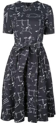 Carolina Herrera Jockey Print Dress