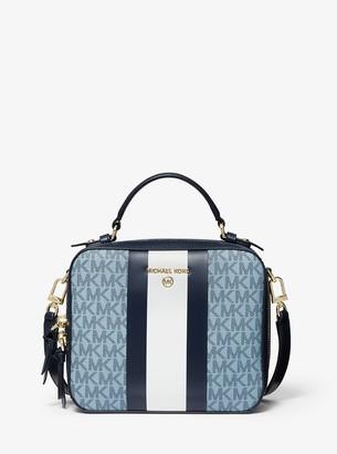 MICHAEL Michael Kors Jet Set Medium Logo Stripe Crossbody Bag