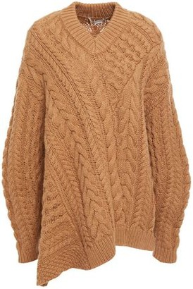 Stella McCartney Asymmetric Cable-knit Wool And Alpaca-blend Sweater