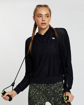 Running Bare Superstar DJs Cropped Workout Hoodie