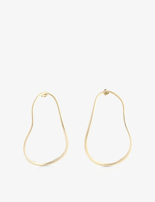 COMPLETEDWORKS Subcommittee 14ct yellow gold-plated sterling silver earrings