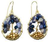 Ananda Brass-Beaded Gemstone Earring