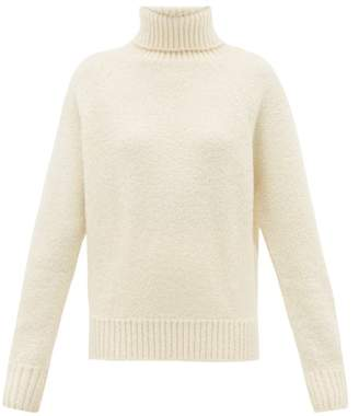 Holiday Boileau Mick Roll Neck Wool Blend Sweater - Womens - Ivory