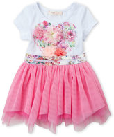 Baby Sara Infant Girls) Floral Tulle Dress