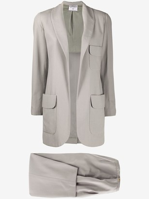 Chanel Pre Owned 1990s Two-Piece Silk Dinner Suit