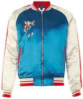 Topman Red, White And Blue Embroidered Eagle Souvenir Jacket