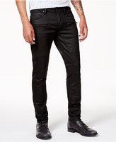 GUESS Men's Slim-Fit Tapered Black Moto Jeans