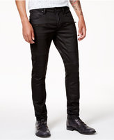 GUESS Men's Slim-Fit Tapered Black Moto Stretch Jeans
