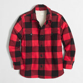 J.Crew Factory Boys' sherpa-lined flannel jacket
