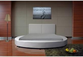 Orren Ellis Lura Upholstered Platform Bed Color: White, Size: King