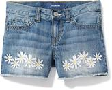 Old Navy Daisy-Patch Denim Cut-Offs for Girls