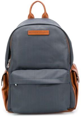 Brunello Cucinelli Colour Block Backpack