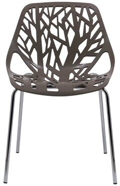 Brayden Studio Amodio Dining Chair Color: Taupe
