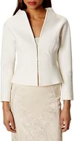 Karen Millen Textured Tailored Jacket, Ivory