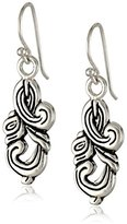 "Barse Silhouette"" Sterling Silver Ornate Drop Earrings"
