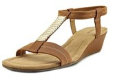 Alfani Vacay Open Toe Synthetic Wedge Sandal.