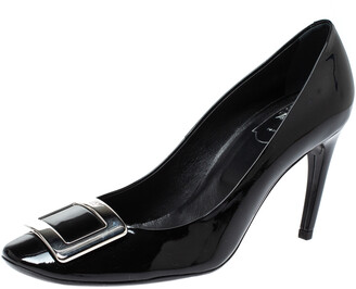Roger Vivier Black Patent Leather Belle Pumps Size 40.5