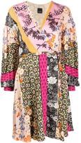 Pinko print mix wrap dress