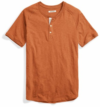 Goodthreads Amazon Brand Short-sleeve Lightweight Slub Henley T-Shirt