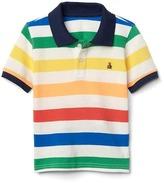 Stripe short sleeve polo