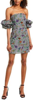 Romeo & Juliet Couture Gingham Floral Blouson Shift Dress