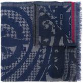 Etro houndstooth pattern scarf