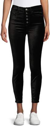 7 For All Mankind High-Waisted Button Fly Skinny Jeans