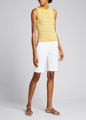 Theory Striped Rib Shell
