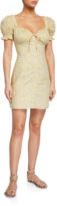 Bardot Lucinta Floral Puff-Sleeve Mini Dress