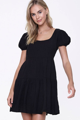 Forever 21 Tiered Cutout Mini Dress