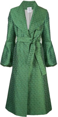 Rosie Assoulin Embroidered Belted Coat