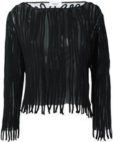 Aviu appliqué detail jumper - women - Polyester/Wool/Polyimide - 42