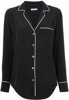 Equipment contrast piping shirt - women - Silk - XS