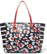 RED Valentino Paneled Printed Leather Tote