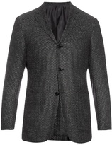 Ermenegildo Zegna Single-breasted wool and silk-blend blazer
