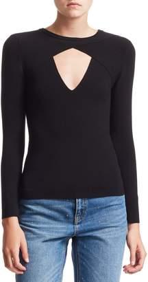 A.L.C. Curtis Rib-Knit Cutout Sweater