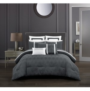Chic Home Arlow Bed in a Bag 12 Piece Comforter Set, King Bedding