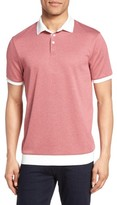 Vince Camuto Men's Contrast Trim Knit Polo