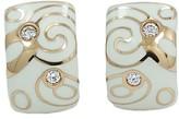 Roberto Coin 18K Rose Gold Enamel and Diamond Earrings