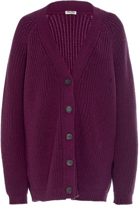 Miu Miu Oversized Wool Cardigan