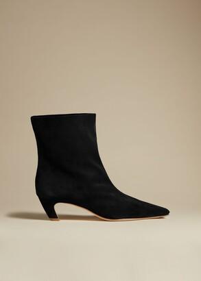 KHAITE The Arizona Boot in Black Suede
