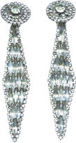 One Kings Lane Vintage 1960s Oversize Rhinestone Earrings