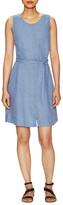 Three Dots Linen Belted Shift Dress