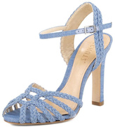 Schutz Leather Jeans Heels