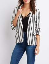 Charlotte Russe Striped Open-Front Blazer