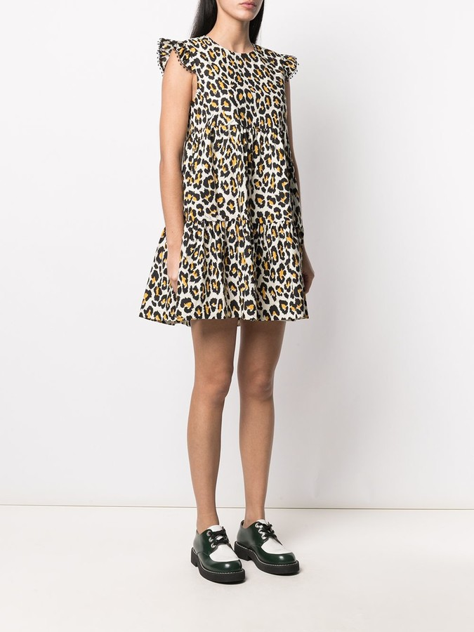 Thumbnail for your product : Marc Jacobs Animal Print Tent Dress