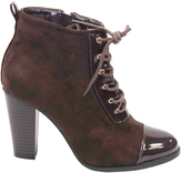 Brown Timmi Lace-Up Bootie